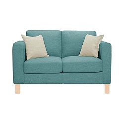 Canoa kék kétszemélyes kanapé 2 krémszínű párnával - Stella Cadente Maison