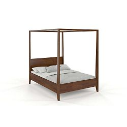 Canopy Dark kétszemélyes tömör borovi fenyő ágy, 160 x 200 cm - SKANDICA