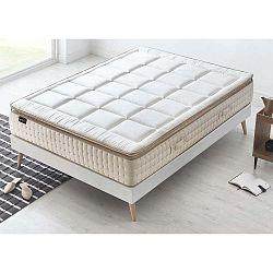 Cashmere fehér matrac krémszínű szegéllyel, 140 x 190 cm - Bobochic Paris