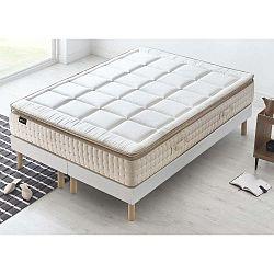Cashmere fehér matrac krémszínű szegéllyel, 200 x 200 cm - Bobochic Paris