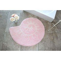 Celine kagyló formájú pink fürdőszobaszőnyeg