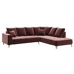 Chloe sötét rózsaszín kanapé, jobb oldali kivitel - devichy