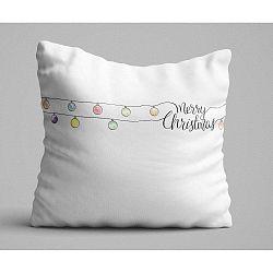 Christmas Lights fehér párna, 45 x 45 cm