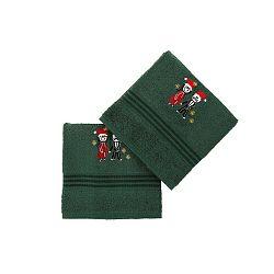 Cift Green 2 darabos zöld pamut törölköző szett, 70 x 140 cm