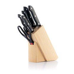 Classic 5 részes rozsdamentes kés- és olló készlet tartóval - InnovaGoods