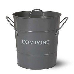 Compost sötétszürke komposztáló fedéllel, 3,5 l - Garden Trading