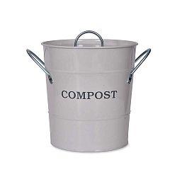 Compost világos szürke komposztáló fedéllel, 3,5 l - Garden Trading