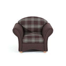 Corona barna kockás fotel - Max Winzer
