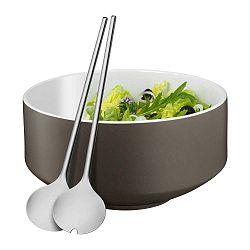 Cromargan® Moto salátás tál és kanál szett, ⌀ 13 cm - WMF
