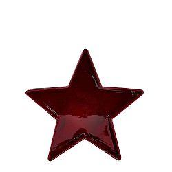 Csillag alakú piros tál, 19 cm - KJ Collection