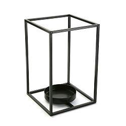 Cube fekete gyertyatartó, magasság 29,5 cm - Versa