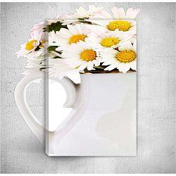 Daisies 3D fali kép, 40 x 60 cm - Mosticx