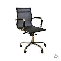Dally 2 darabos fekete, gurulós irodai szék készlet - Evergreen House