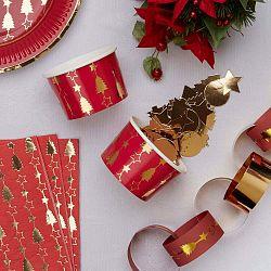 Dazzling Christmas 8 db-os papírtálka szett - Neviti