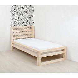 DeLuxe Naturaleza egyszemélyes fa ágy, 190 x 120 cm - Benlemi
