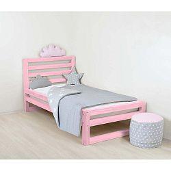 DeLuxe rózsaszín fa egyszemélyes gyerekágy, 180 x 80 cm - Benlemi