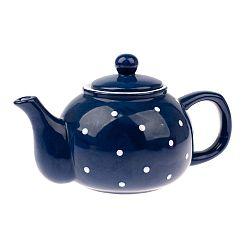 Dots kék kerámia teáskanna, 1 l - Dakls