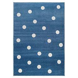 Dots kék, pöttyös szőnyeg, 160 x 230 cm - KICOTI