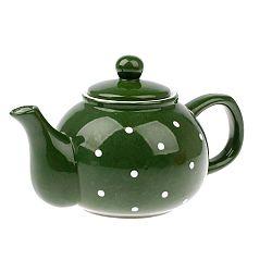 Dots zöld kerámia teáskanna, 1 l - Dakls