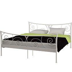 Elizabeth fehér fém ágy, 180 x 200 cm - Støraa