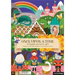 Fairy Tales összehajtható tábla újra felhasználható matricákkal - Petit collage