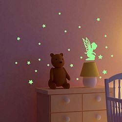 Fairy With Small Stars sötétben világító matrica - Ambiance
