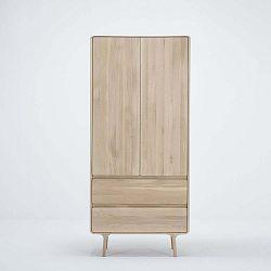 Fawn tömör tölgyfa ruhásszekrény 2 fiókkal - Gazzda