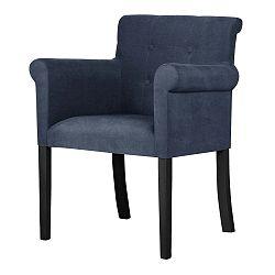 Flacon sötétkék bükk szék fekete lábakkal - Ted Lapidus Maison
