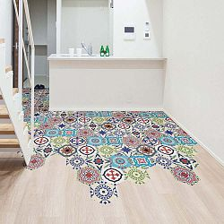 Floor Stickers Hexagons Hannah 10 db-os padlómatrica szett, 40 x 90 cm - Ambiance