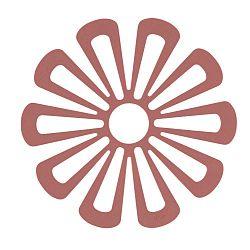Flower piros szilikon edényalátét - Zone