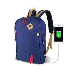 FREEDOM Smart Bag kék hátizsák USB csatlakozóval - My Valice