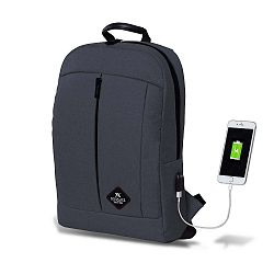 GALAXY Smart Bag antracitszürke hátizsák USB csatlakozóval - My Valice
