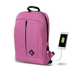 GALAXY Smart Bag fukszia színű hátizsák USB csatlakozóval - My Valice