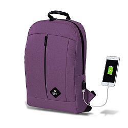 GALAXY Smart Bag lila hátizsák USB csatlakozóval - My Valice