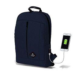 GALAXY Smart Bag sötétkék hátizsák USB csatlakozóval - My Valice