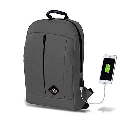 GALAXY Smart Bag szürke hátizsák USB csatlakozóval - My Valice