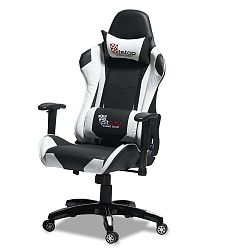 Gaming fekete-fehér ergonómikus irodai szék - Furnhouse