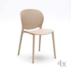 Gavle bézs szék, 4 darab - Design Twist