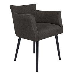 Gemini sötétszürke szék karfával - Windsor & Co Sofas