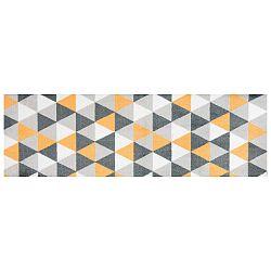 Geo sárga mintás futószőnyeg, 150 x 50 cm - White Label