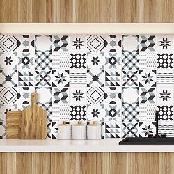 Geometric Grey 60 részes dekorációs falmatrica szett, - Ambiance