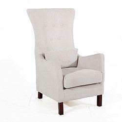 Gina bézs színű füles fotel - Max Winzer
