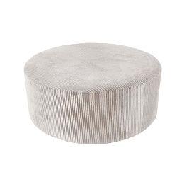 Glam fehér kordbársony puff, 90 x 35 cm - Leitmotiv
