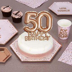 Glitz & Glamour papír tortadísz 50-es számmal - Neviti