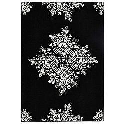 Gloria Blossom fekete-fehér szőnyeg, 80 x 150 cm - Hanse Home