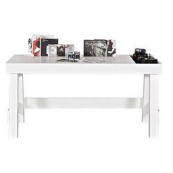 Grooving fehér íróasztal borovi fenyőből - BePureHome