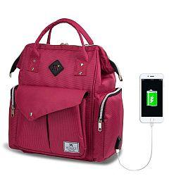 HAPPY MOM Baby Care Backpack hátizsák anyukáknak USB csatlakozóval - My Valice
