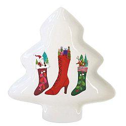 Happy Wintertime porcelán dekorációs tál karácsonyi motívummal - PPD