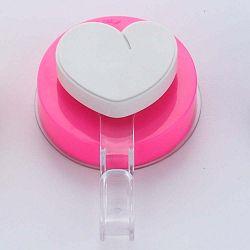 Heart rózsaszín fúrásmentes akasztó - ZOSO