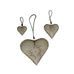 Hearts 3 db-os felfüggeszthető dekoráció szett - Antic Line